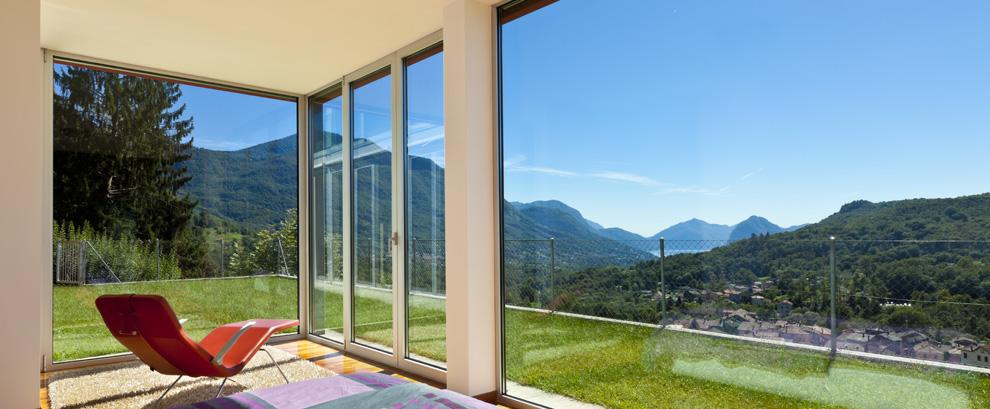 parete in vetro casa privata