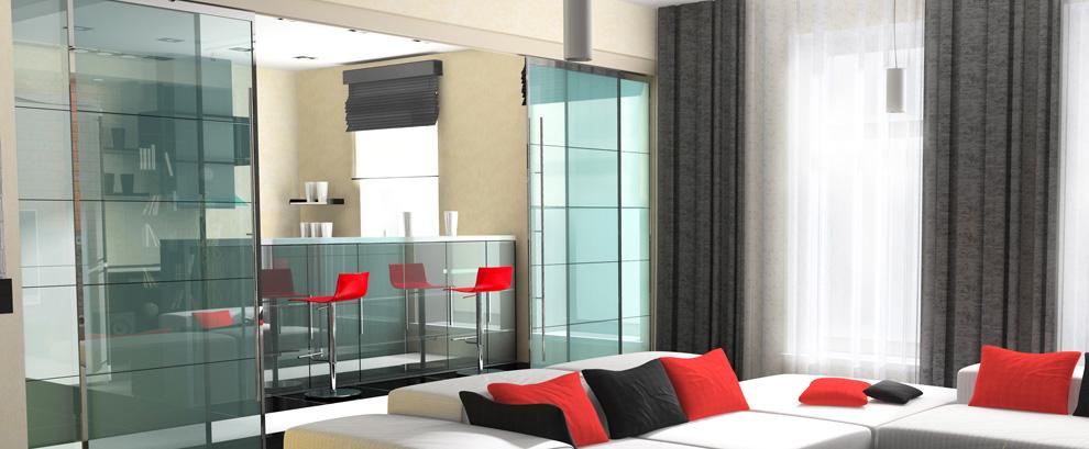 porta scorrevole in vetro soggiorno